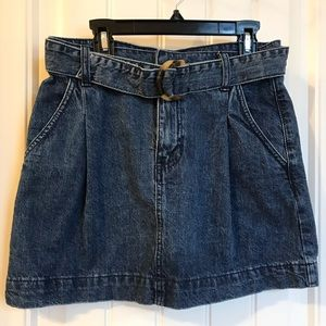 Free People short denim skirt